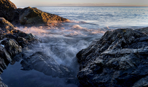 ocean longexposure sunset water rocks bc britishcolumbia victoria pacificocean