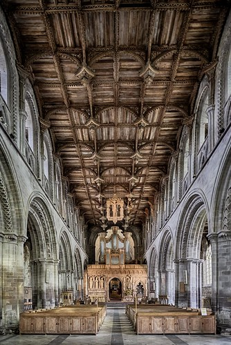 hdr st davids cathedral architecture wales pembrokeshire lettner