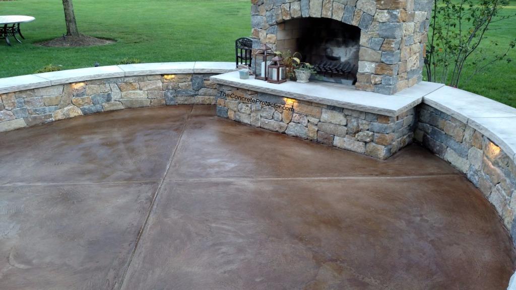 Exceptionnel Stained Concrete Patio  Concrete Surface And Design  Burli ...