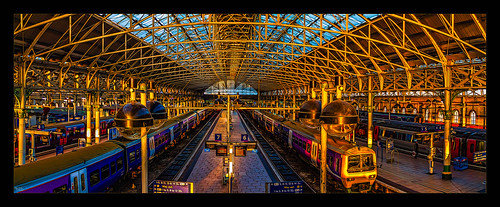 architecture canon1100d canon1855mm citycentre england hdr kevinwalker lancashire manchester northwest panorama panoramic photoborder piccadillystation railwaylines railwaystation sky skyline trains transport