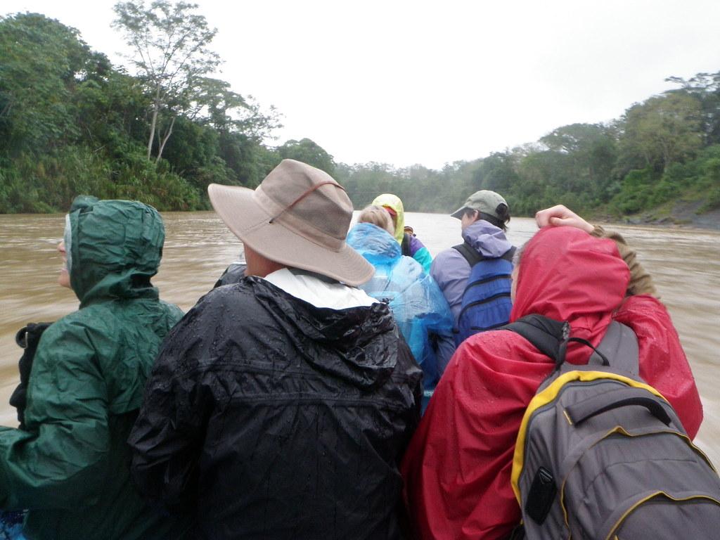 Heading downriver in the rain