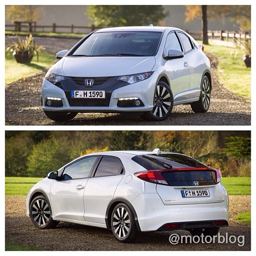 New 2014 Honda Civic starts at 17,000 euros - equipped with a new 1.6 i-DTEC Diesel engine. Alternatively comes with a 1,4- or 1,8 Liter petrol engine ... @Honda #hondaCivic #newCivic #honda #newcars #cars #2014 Photo