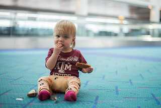 Reese Eating in the Airport | by donnierayjones