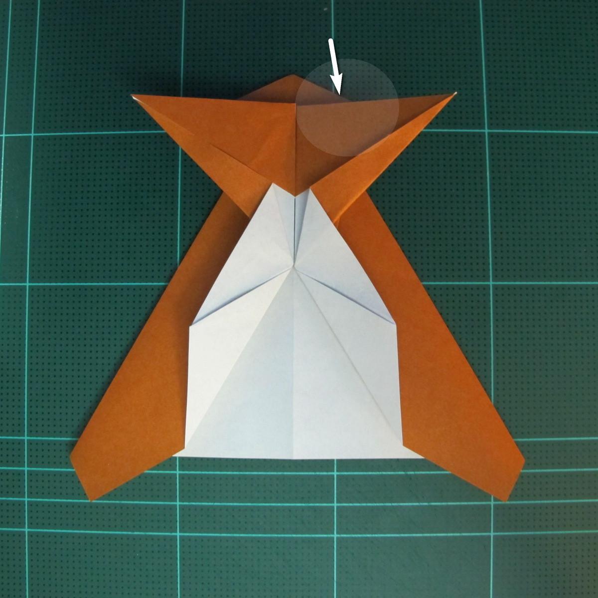 วิธีการพับกระดาษเป็นรูปกบ (แบบโคลัมเบี้ยน) (Origami Frog) 026