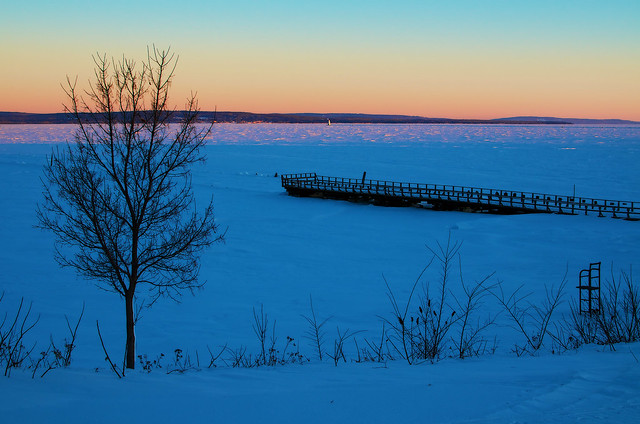 Sunrise over Frozen Lake Superior .............. Explored on Thursday, March 13, 2014    Thank you, everyone!