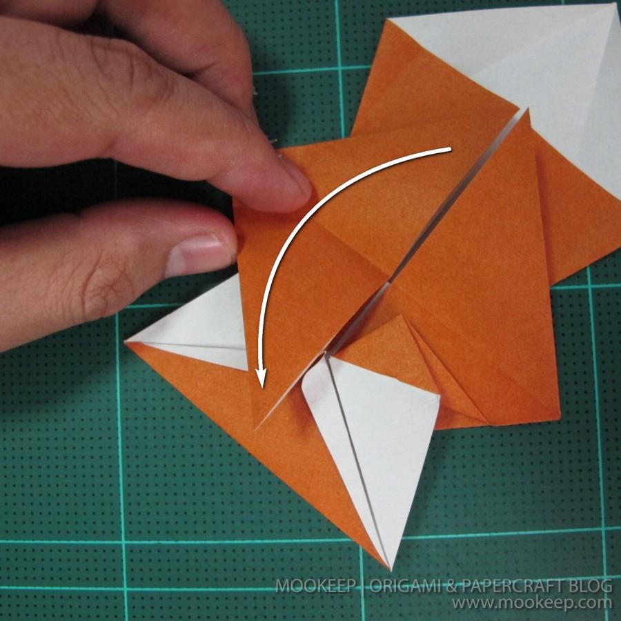วิธีพับกระดาษเป็นรูปหมี (Origami Bear) 011