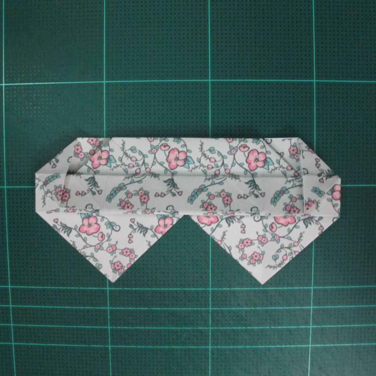 วิธีพับกระดาษรูปหัวใจคู่ (Origami Double Heart)  022