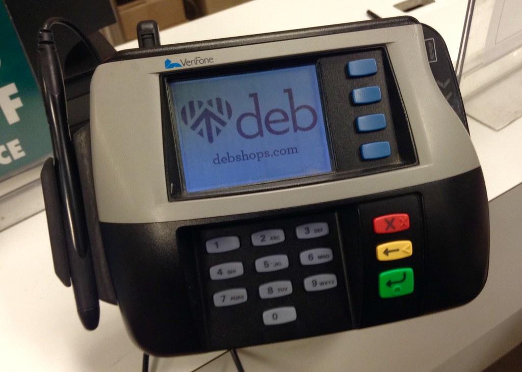 Deb Clothing Store Credit Card Swipe Reader Scanner Device Flickr