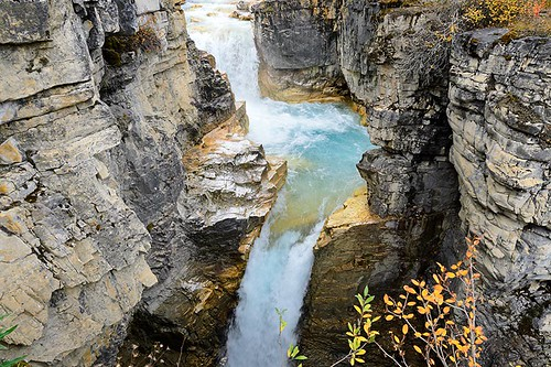 Marble Canyon in Kootenay National Park, British Columbia Rocky Mountains, BC, Canada.