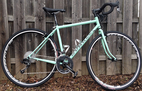 <p>Here is Edith W's Gunnar CrossHairs in Rock Moss Green with Star Wars decals.  Ready to enjoy the roads and trails of central NJ.</p>