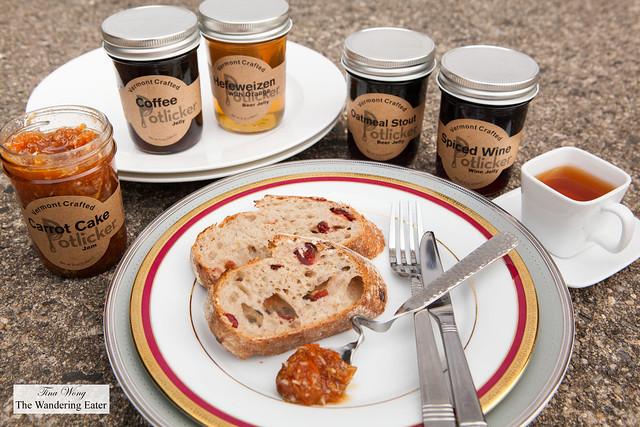 Carrot Cake Jelly, Coffee Jelly, and various wine and beer jellies by Potlicker Kitchen