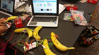 Foster Library's Makey Makey Banana Controller   by WA State Library