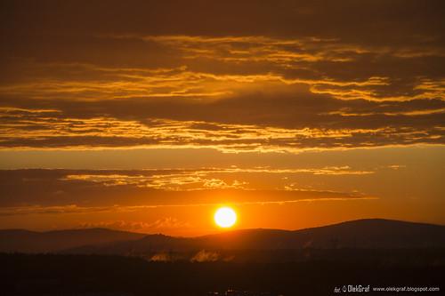 sunset sky orange sun storm clouds nikon outdoor poland manfrotto olek kielce d3200 nikonflickraward olekgraf