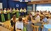 Die Kulturgruppe >>Lustige Schwaben<< sowie die Tanzgruppe aus Leimen mit Gedichten und Liedern aus der alten Heimat