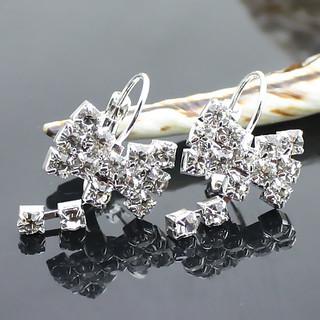 Silver bow Diamant-Ohrringe - Tropfen Ohrringe ch.thdress ...
