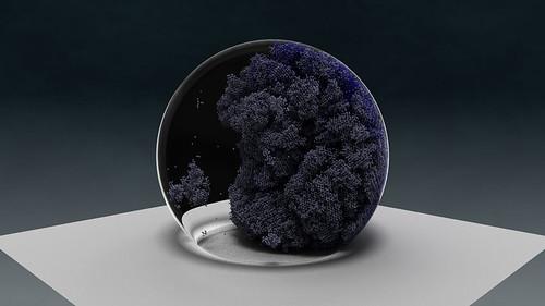 Water droplet simulation | by oakridgelabnews