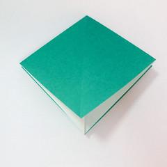 สอนวิธีการพับกระดาษเป็นรูปปลาฉลาม (Origami Shark) 006