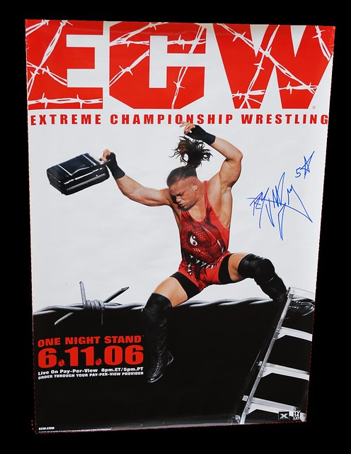Rob Van Dam Autographed WWE/ECW One Night Stand 2006 PPV Poster