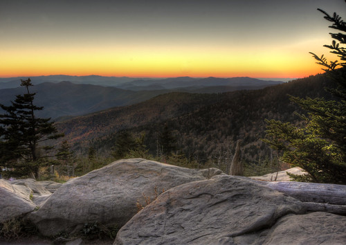 sunset mountains landscape landscapes smoky clingmansdome greatsmokymountainsnationalpark
