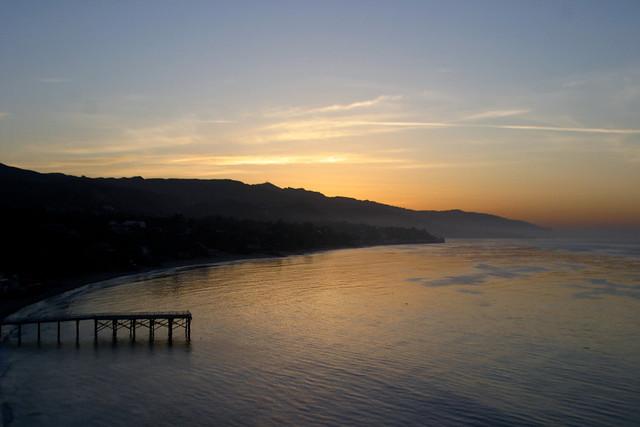 cove pier at dawn