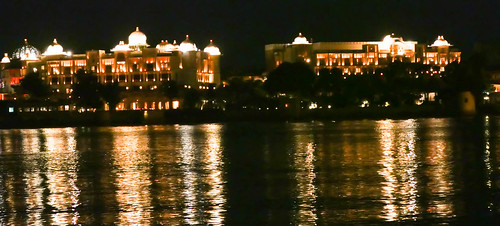 view of the leela palace hotel at night | by moonandsixpence