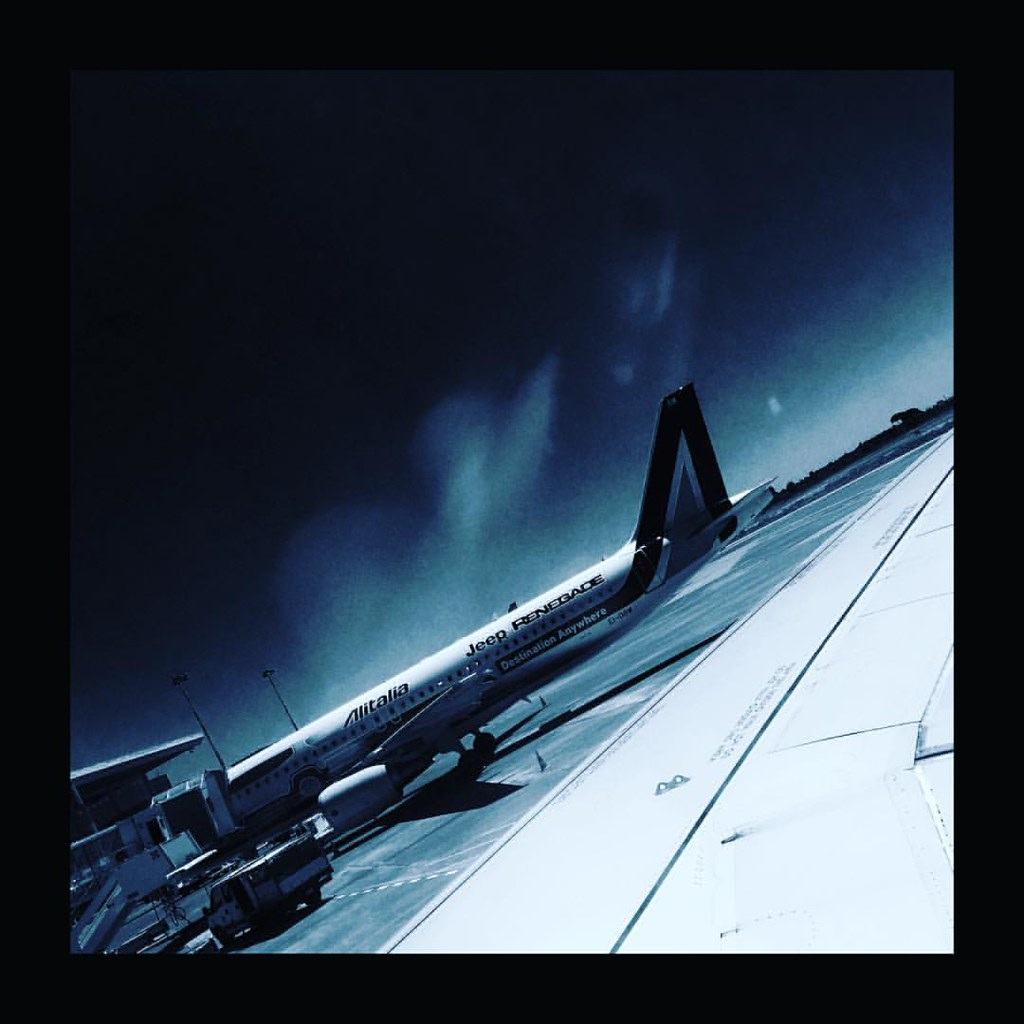 Taormina, Sicily - photo by Motoki  #airport #airplanes #airoplane #sky #bluesky #italy #italia #iphoneography