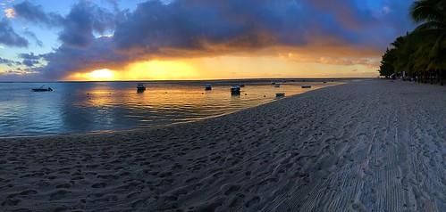 sunset sea black beach river landscape coast sundown riviere mauritius lemorne noire