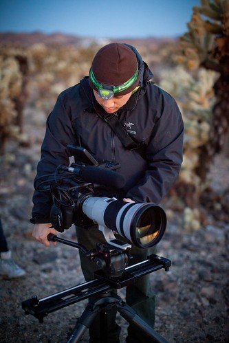 Manfrotto Be Free Tripod ad shoot BTS - Joshua Tree BTS Lan Bui | by The Bui Brothers