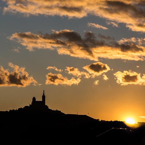 Notre dame de la Garde Marseille coucher de soleil | by Bernard Ddd