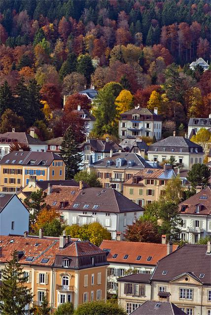 La Chaux-de-Fonds in Autumn Time. Couleurs d'automne à La Chaux-de-Fonds. dNo.99.