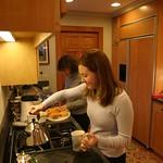 Ashley making tea