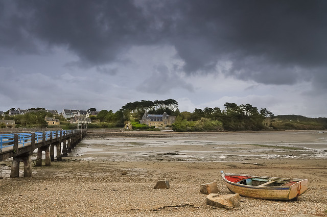 Bretagne- Le Conquet - Waiting for the tide
