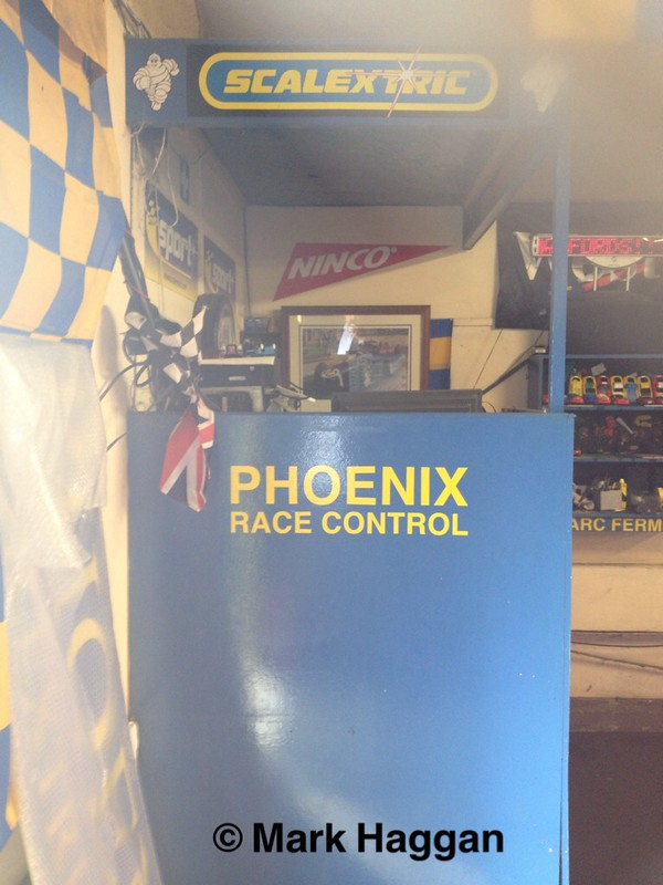 Race Control at Phoenix Scalextric Track, Studley, Warwickshire