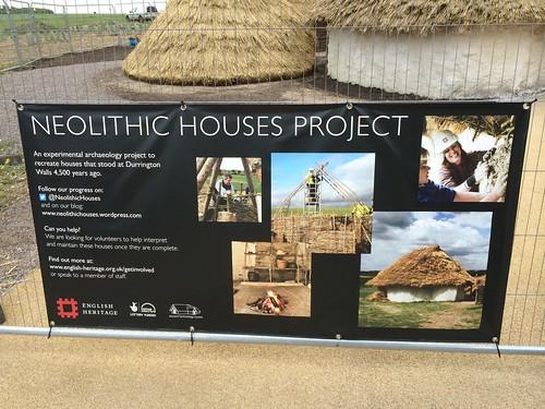 Stonehenge Neolithic huts - interpretation panel