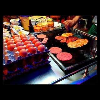 Western-became-Malaysian food at it's best.  #burger #stall #malaysia #penang #egg #light #colours #foodporn #dinner | by speedrider