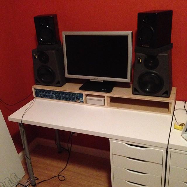 Custom 4U studio rack/monitor/speaker shelf | Jim G | Flickr