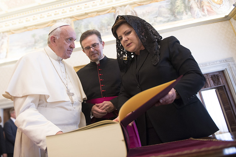 Wizyta Premier Beaty Szydło w Watykanie