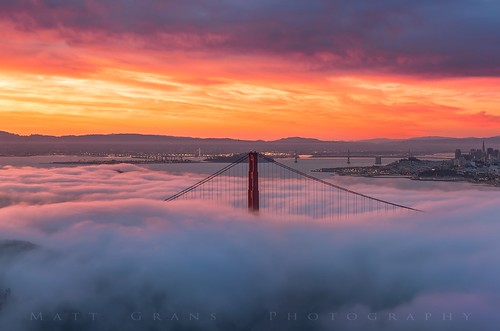 sanfrancisco city morning fog skyline clouds sunrise bay goldengatebridge