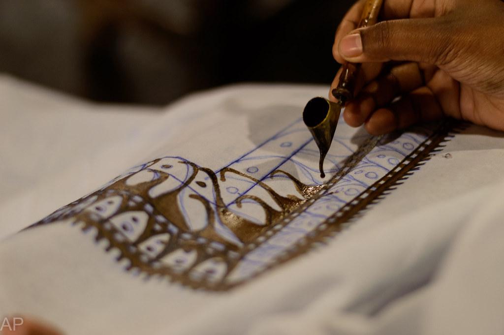 Batik art work on a cloth