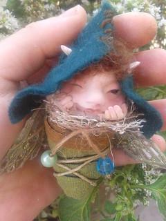 Ooak polymerclay baby fairy
