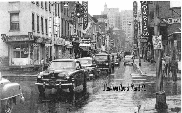 Madison Ave and South Pearl  St 1950's  albany ny