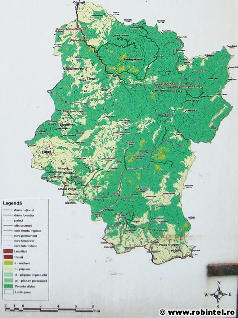 00 Harta Nu Prea Clara A Parcului Gradistea Muncelului Cio Flickr