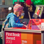 Casting a vote in the Book Festival's First Book Award |