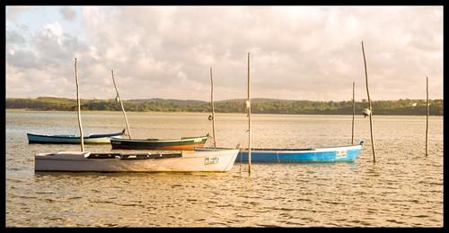 sunset portugal boats lagoon lagoa janherremans costadoprata
