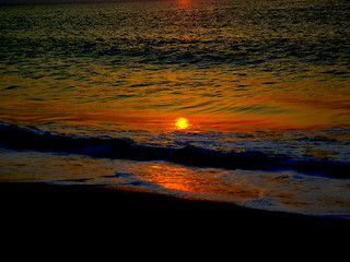 Reflecting sunset in Oman
