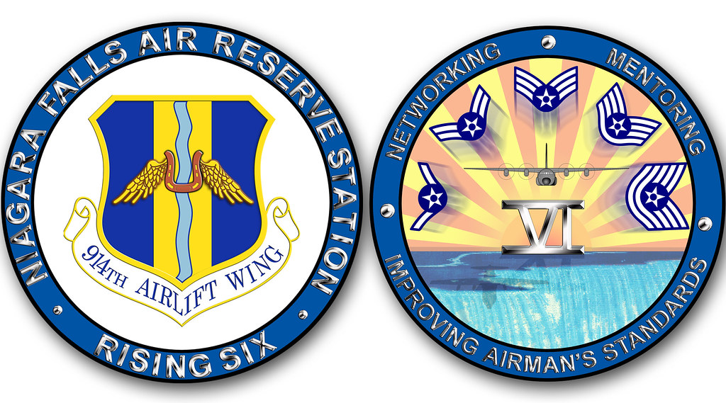 Rising 6 coin | Rising Six challenge coin design  (U S  Air