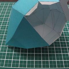 วิธีทำของเล่นโมเดลกระดาษรูปนก (Bird Paper craft ) 022