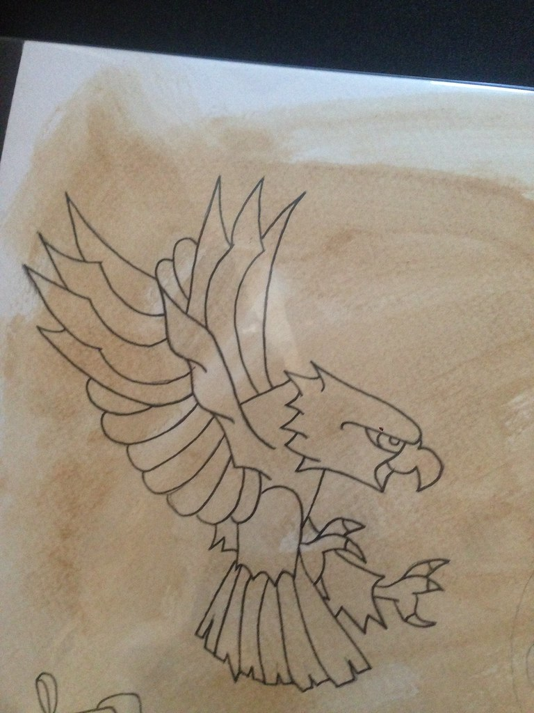 Traditional Eagle Outline Because What Flash Would Be Comp Flickr