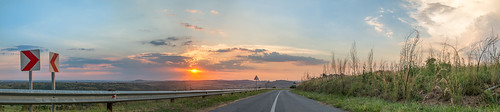 road sunset panorama sun landscape vanishingpoint pretoria vanish africansun