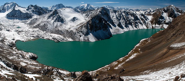 Pano of Ala-Köl lake